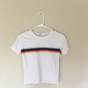 Brandy Melville Rainbow Cropped Top